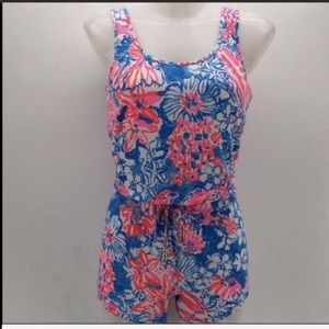 Lilly Pulitzer printed tank top romper xs